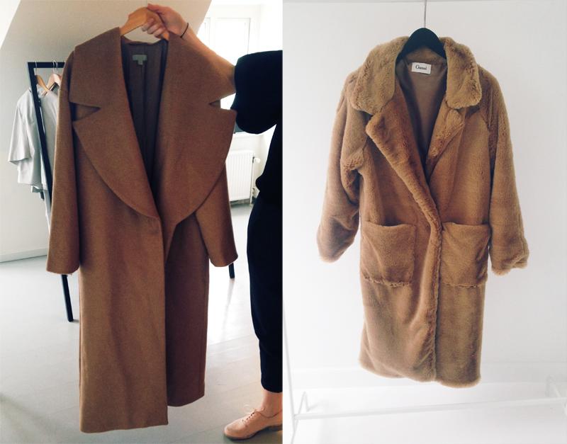 ganni teddy frakke