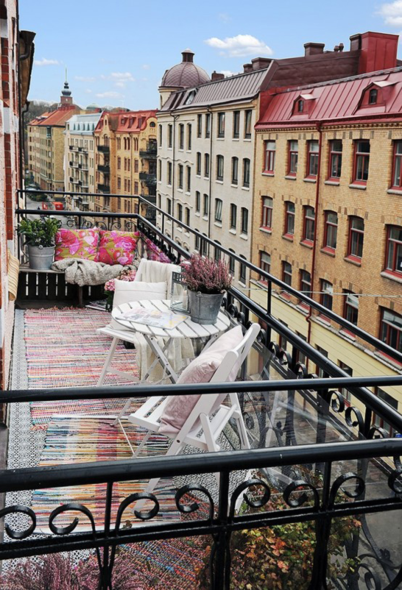 Balcony inspiration Р18 id̩er til din altan   stylovers.pl