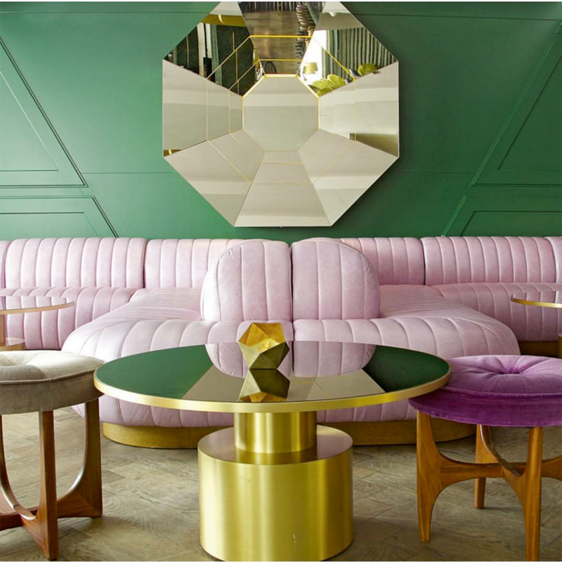 Pink Green Interior At Trine 39 S Wardrobe