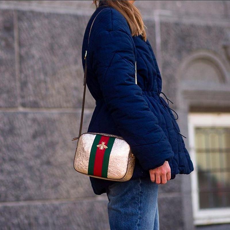 dc3686971b9 Blue and a Gucci glitter bag - Trine Kjær