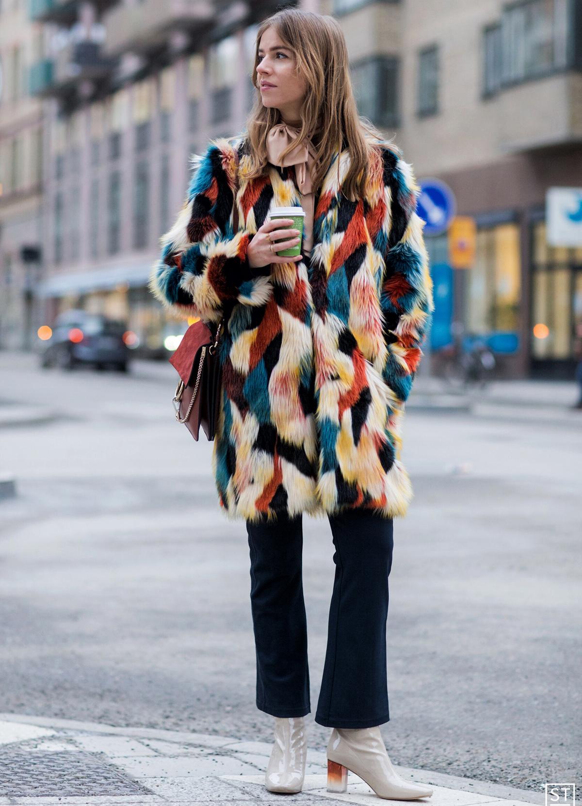 Colorful Fur during Stockholm Fashion Week