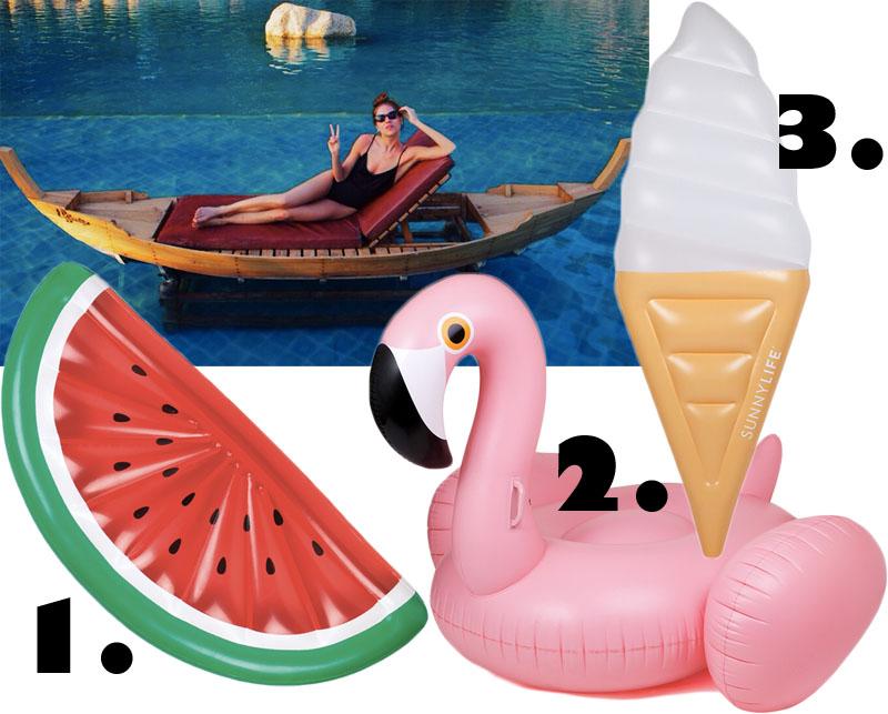 3 goodies: Pool Floats
