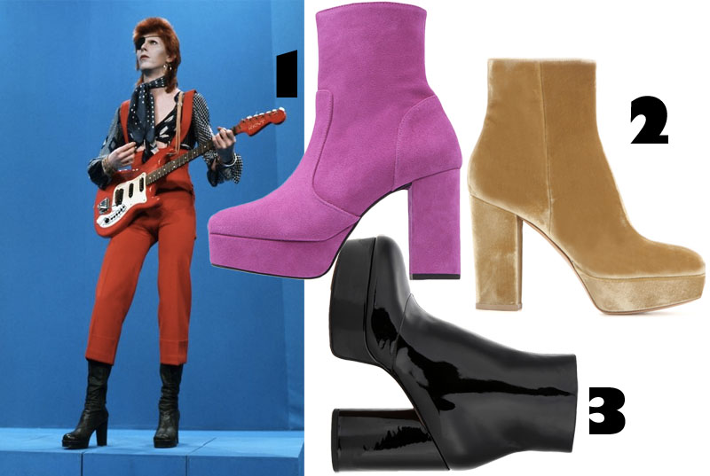 3 Goodies: David Bowie Boots