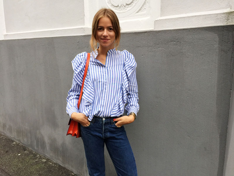Stripes, denim and red