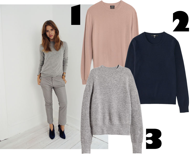 3 goodies: Cashmere Knits on budget