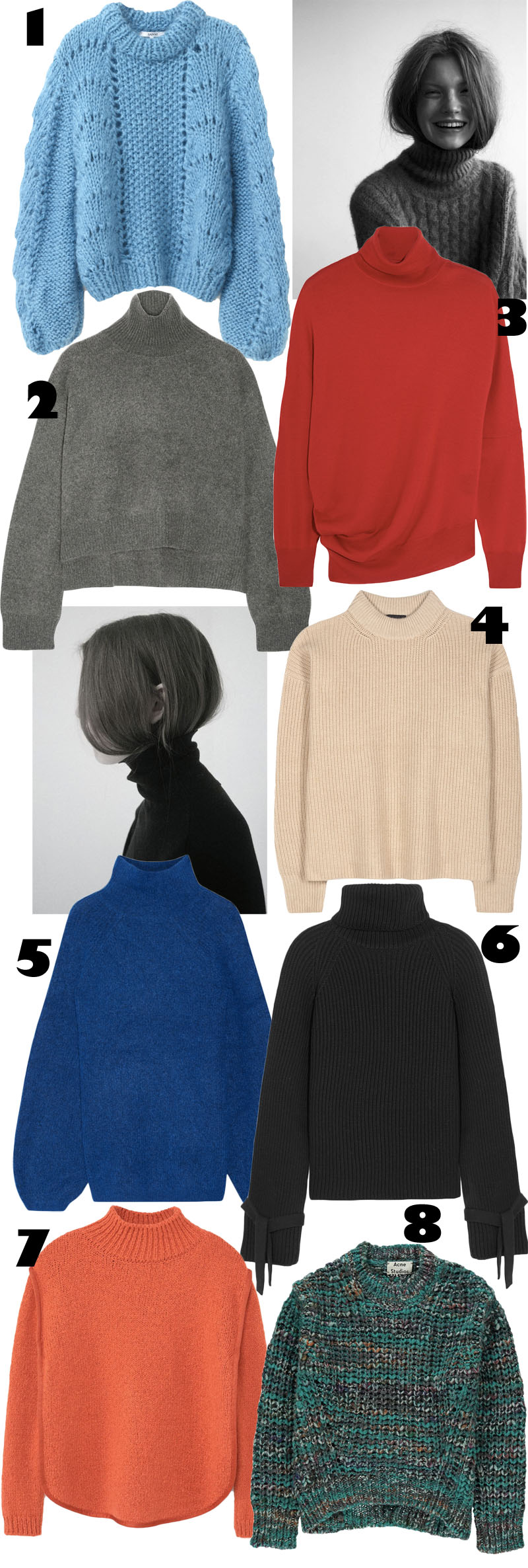 Eyes on: Turtleneck Sweaters