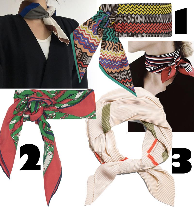 3 goodies: Small Silk Scarves