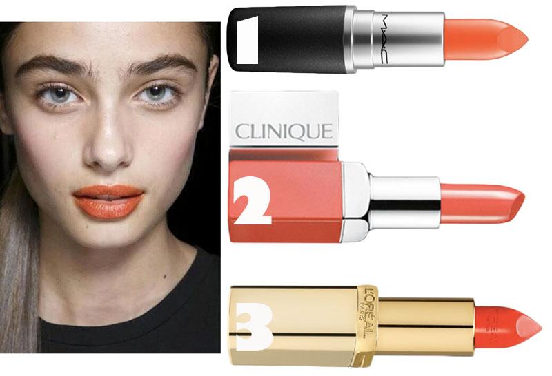 3 goodies: Orange lips