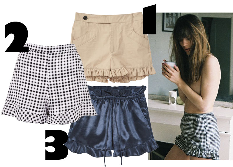 3 goodies: Ruffle shorts