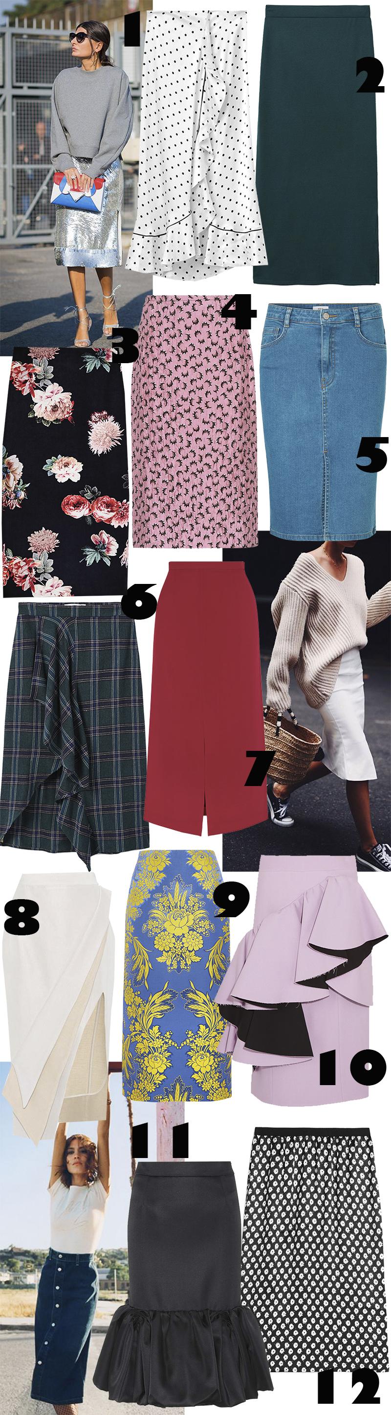 12 nederdele til efteråret