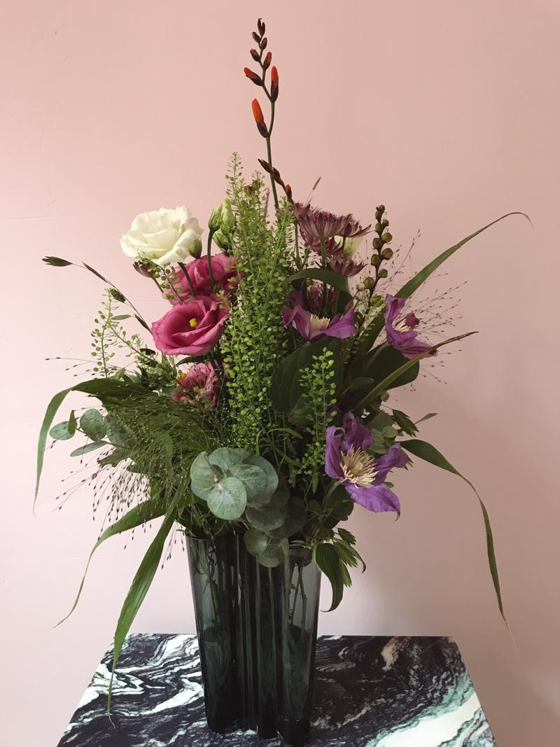 blomster leveret til døren