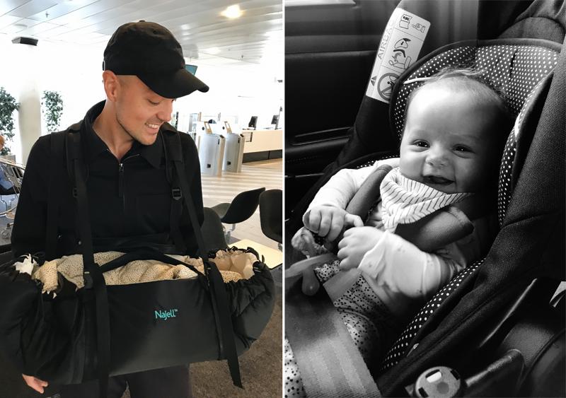 flyvning med spædbørn